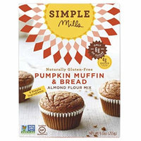 Simple Mills Pumpkin Almond Flour Muffin Mix, 9.0 Ounce Boxes (Pack of 3)