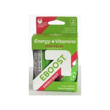 Natural Energy Shot Berry Melon with Coconut Water EBOOST 2 (2 oz ) fl oz Box
