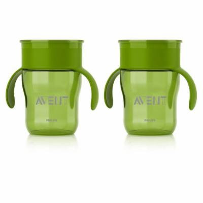 Philips AVENT BPA Free 2 Pack Natural Drinking Cup, 9 Ounces, Green