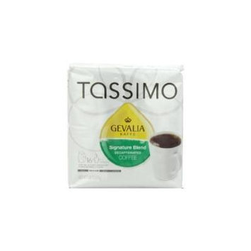 Gevalia Signature Blend Decaffeinated Coffee (Mild), 16-Count T-Discs for Tassimo Coffeemakers (Pack of 2)