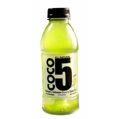 Coco5 All Natural Coconut Water, Limon, 12 Count