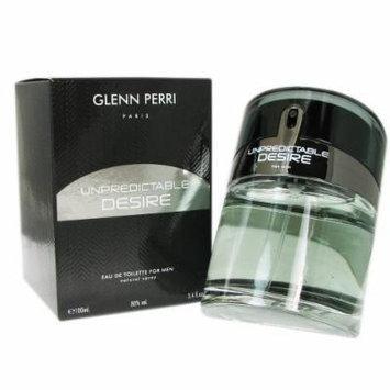 Glenn Perri Unpredictable Desire Eau De Toilette Spray for Men, 3.4 Ounce