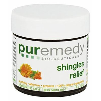 Puremedy Shingles Symptom Relief Homeopathic Salve, Natural, 1 Ounce