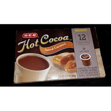 Hot Cocoa, Salted Caramel, 12 Single Serve Cups (Pack of 2)total 24-compatible with Keurig K-cup Brewers