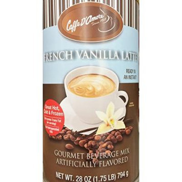 Two - 28oz Caffe D'Amore French Vanilla Gourmet Instant Beverage Mix