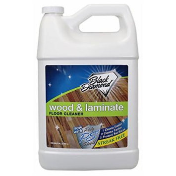 Black Diamond Wood & Laminate Floor Cleaner 1-Gallon: For Hardwood, Real, Natural & Engineered Flooring -Biodegradable Safe for Cleaning All Floors