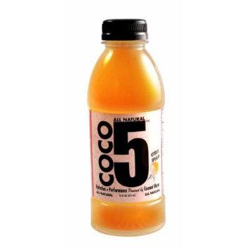 Coco5 All Natural Coconut Water, Citrus Splash, 12 Count