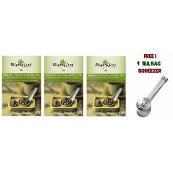 Mighty Leaf Tea , Organic Green Hojicha ,(with FREE Tea Bag Squeezer) (3 Pack)