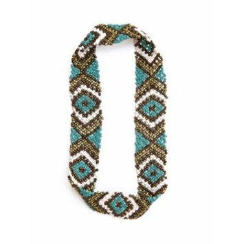 Sizzle City Custom Bling Rhinestone Bohemian Pattern Seed Bead Elastic Stretch Headbands (Native American Seed Bead Headband Style B)