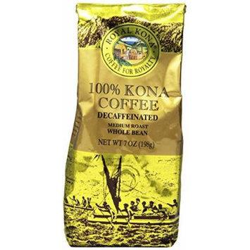Royal Kona Whole Bean Coffee, Decaf, Medium Roast, 0.44 Pound