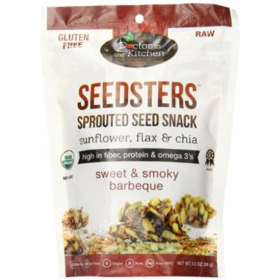 Doctor in the Kitchen Seedsters Sprouted Seed Snack, Sweet and Smoky Bbq, 3.5 Ounce