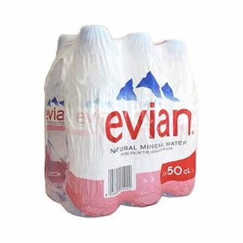 Evian Still Mineral Water 6 x 500ml