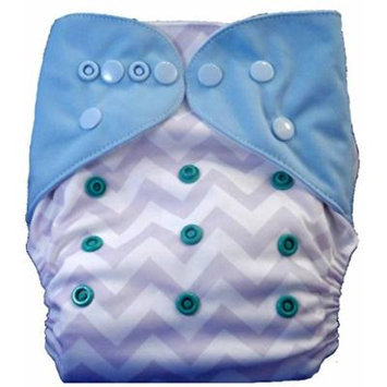 GIRLS PURPLE TEAL CHEVRON ALVA POCKET CLOTH DIAPER