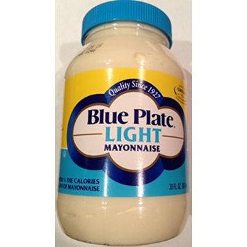 Blue Plate Light Mayonnaise 30 Oz Plastic Jar