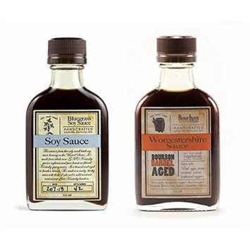 Bundle - Bluegrass Soy Sauce 100ml and Aged Worcestershire Sauce 100 ml (1 Bottle Each)