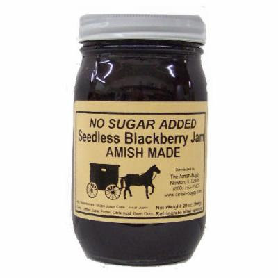 Amish Buggy No Sugar Added Jam, Blackberry, 16 Ounce (Pack of 12)