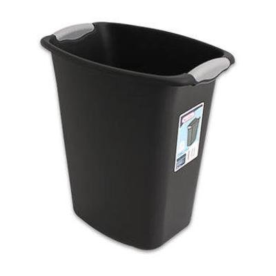 Sterilite 3 Gallon Wastebasket Black (Pack Of 6)