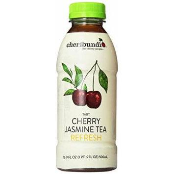 Cheribundi Tart Cherry Jasmine Tea Refresh, 16.9 Ounce (Pack of 12)