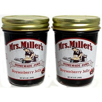 Mrs. Miller's Amish Home Made Jelly, Boysenberry, 9 Ounce (Pack of 2)