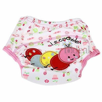 Cotton Reusable Baby Infant Diaper Pant waterproof Cover Training Worm Print