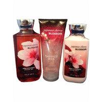 Bath and Body Works Japanese Cherry Blossom Gift Set Bundle - Body Lotion, Shower Gel, Shimmer Bomb