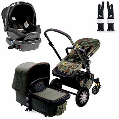 Bugaboo Cameleon3 Complete Stroller - Diesel Camouflage w Peg Perego Primo Viaggio 4/35 Car Seat (Atmosphere)