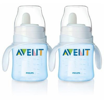 Philips Avent BPA Free Classic Bottle to First Cup Trainer, 2 Pack - Blue
