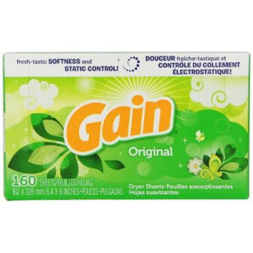 Gain With Freshlock Original Dryer Sheets 160 Count (Pack of 6)