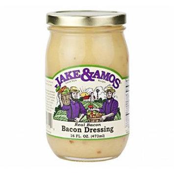 Jake & Amos Real Bacon Dressing, 16 Oz. Jar (Pack of 4)