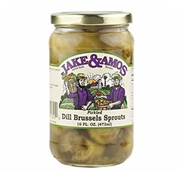 Jake & Amos Pickled Dill Brussel Sprouts, 16 Oz. Jar (Case of 12)