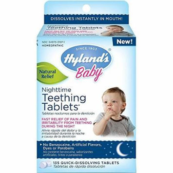 Hyland's Baby Nighttime Teething Tablets, 135 count, Pack of 6