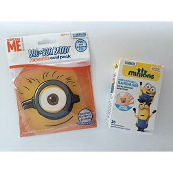 Minion Cold Pack Bandage Bundle Children's Boo Boo Buddy First Aid Cool Pain Relief