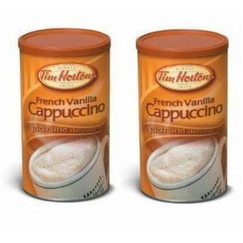 Tim Hortons French Vanilla Cappuccino Beverage Mix - Two 16oz Cans - Imported from Canada