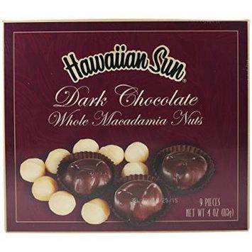 Dark Chocolate Covered Whole Macadamia Nuts, 4 Ounce