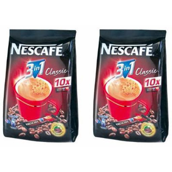 2 Boxes of Nestlé Nescafe 3 in 1 Classic Instant Coffee with Cream 12.6 Oz