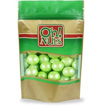 Shimmer Light Green Lime Pearlescent 1 Inch Gumballs 2 Pound Bag - Oh! Nuts