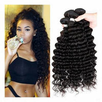 Passion7a Human Hair Direct 100% Virgin Brazilian Human Hair Extensions Water Wave 3-pack Bundle, Natual Black Color 300g Total (100g Each) (18 20 22)