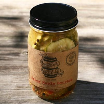 Spicy Maple Bourbon Bread and Butter Pickles by Brooklyn Brine (16 ounce)