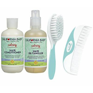 California Baby Calming Hair Conditioner & Detangler Spray with Free Comb & Brush
