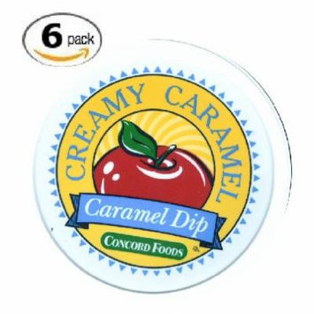 Concord Foods Creamy Caramel Dip 14oz Tub (VALUE pack of 6 Tubs)