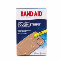 Band-Aid Tough-Strips Waterproof Bandages, Extra Large 10 ea