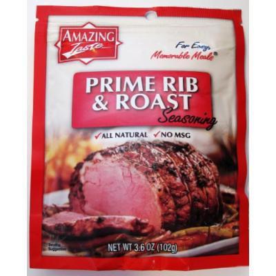 Amazing Taste Prime Rib and Roast Seasoning Bundle (4 Pouches- 3.6 oz ea.)