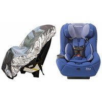 Maxi-Cosi Pria 70 Convertible Car Seat with Easy Clean Fabric and Sun Shade, Blue Base