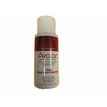 Avatar Semi Permanent Hair Color Rinse #7283 Mahogany Red Red, Change your hair style, no mess, hair chemical, use warm, shake well, hair streaks, hair dye
