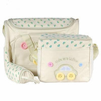 Brand New 4 pcs Cute Button Embroidery Baby Diaper Nappy Changing Bag