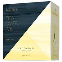 Tea Forte TEA OVER ICE Blends, Five Iced Tea Infusers, Celon Gold Black Tea