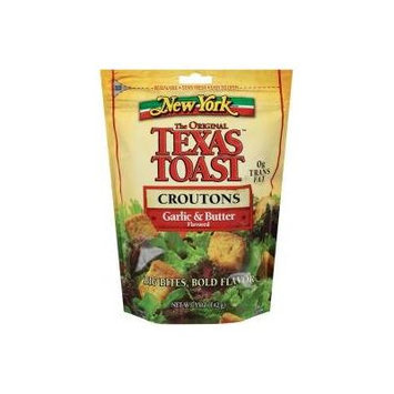 New York Texas Toast Croutons, Garlic & Butter 5 Oz (Pack of 4)