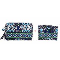Vera Bradley Small Cosmetic and Coin Purse in Ink Blue
