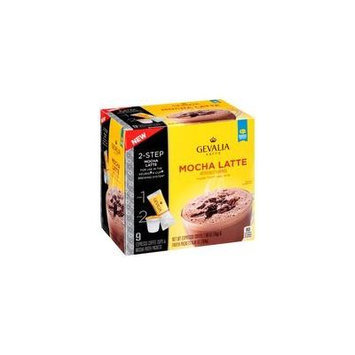 Gevalia 2-step 9 -Espresso Coffee Cups and Froth Packets, Mocha Latte (1 box/9 Espresso k-cups & Froth Packets) Pack of 2