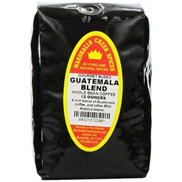 Marshalls Creek Spices Gourmet Whole Bean Coffee, Guatemala Blend, 12 Ounce